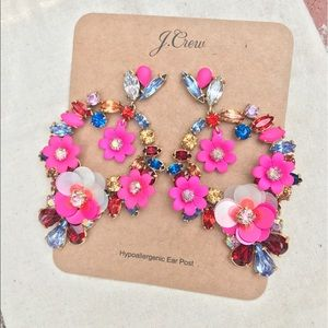 J. Crew floral statement earrings NWT!